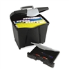 Storex Portable File Box w/Drawer, Letter Size, 14w x 1
