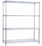 R&B Wire Shelving Unit 18x60x72 (w/o Casters), 4 Wire Shelves