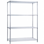 R&B Wire Shelving Unit 24x48x72 (w/o Casters)