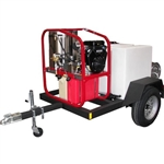 T185SKH / SK40005VH Hot2Go Hydro Hot Mobile Pressure Washer Skid Trailer Package