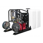 Hydo-Tek Hot2Go Gas Hot Water Pressure Washer Skid Package, 4000 PSI, 3.5 GPM Honda