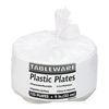 Tablemate Plastic Dinnerware, Compartment Plates, 9 Di