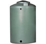 Chem-Tainer 550 Gallon Green Vertical Water Tank, Premium, Portable, Vertical, Drinking Water Tank