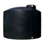 Chem-Tainer 500 Gallon Black Vertical Water Tank, Premium, Portable, Vertical, Drinking Water Tank