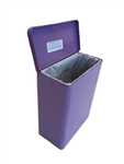 S.A.C. Sanitary Napkin & Tampon Disposal Receptacle -Lavender powder coated steel - 1 Unit # TD1000LV