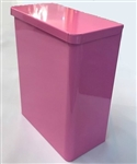 S.A.C. Sanitary Napkin & Tampon Disposal Receptacle -Pink powder coated steel - 1 Unit # TD1000PK
