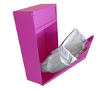 S.A.C. Sanitary Napkin & Tampon Disposal Receptacle - Pink Powder coated steel- 1 Unit # TD9200PK