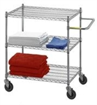 Adjustable Utility Cart 18'x36 w/3 Wire Shelves, # UC1