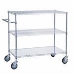 Adjustable Utility Cart 18x36 w/Solid Top or Bottom S