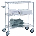 Adjustable Utility Cart 18x48 w/3 Wire Shelves, # UC1