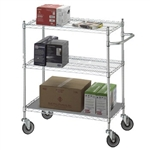 Adjustable Utility Cart 24x36 w/Solid Top or Bottom S