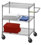 Adjustable Utility Cart 24x48 w/3 Wire Shelves, # UC2