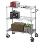 Adjustable Utility Cart 24x48 w/Solid Top or Bottom S