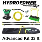 Unger HydroPower Ultra Advanced Kit 33 Ft. Waterfed Pole Kit with an Unger nLite HydroPower Small Tank DI Purification System