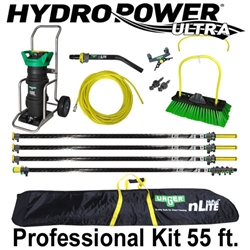 Unger HydroPower Ultra Professional Kit 55 Ft. Waterfed Pole Kit w/ Unger nLite HydroPower Ultra 3-Stage DI Purification System