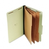 Universal Pressboard Classification Folder, Legal, 8-Se