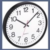 Universal Round Wall Clock, 12-1/2in, Black # UNV10431