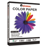 Universal® Colored Paper, 20lb, 8-1/2 x 11, Blue, 500 Sheets/Ream # UNV11202