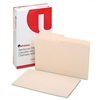 Universal File Folders, 1/2 Cut, Two-Ply Top Tab, Legal