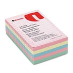 Universal Self-Stick Notes, 4 x 6, 4 Pastel Colors, 5 1