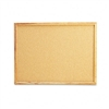 Universal Cork Bulletin Board, 24 x 18, Natural, Oak Fr