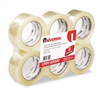 Universal Box Sealing Tape, 2 x 110 yards, 3 Core, Cl