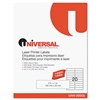 Universal Laser Printer Permanent Labels, 4 x 1, White,
