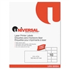 Universal Laser Printer Permanent Labels, 2 x 4, White,