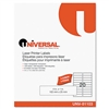 Universal Laser Printer Permanent Labels, 4 x 1, Clear,