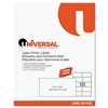 Universal Laser Printer Permanent Labels, 2 x 4, Clear,