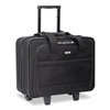 SOLO Rolling Laptop Case, Poly, 16-1/2 x 10 x 14, Black