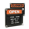 Headline Signs Double-Sided Open/Closed Sign w/Plastic