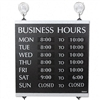 Headline Signs Century Series Business Hours Sign, Heav