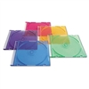 Verbatim CD/DVD Slim Cases, 5 Assorted Jewel Colors, 50