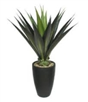 Laura Ashley 44 Inch Tall High End Realistic Silk Giant Aloe Plant with Contemporary Planter