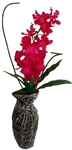 Laura Ashley Real Touch Fuchsia Orchid in Designer Ceramic Container