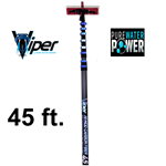 Pure Water Power Viper 45 ft, 47 ft reach Kevlar, Hi-Mod Carbon Fiber Waterfed Pole, VP-45HMCF