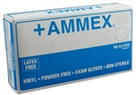 AMMEX Powder Free Vinyl Disposable Gloves VPF 5mil - Large - Case of 1000