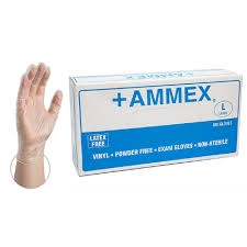 AMMEX Powder Free Vinyl Disposable Gloves VPF 5mil - X Large - Case of 1000