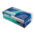 AMMEX Stretch Vinyl Disposable Gloves VSPF 5mil - X Large - Case of 1000