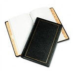 Wilson Jones Looseleaf Minute Book, Black Leather-Like