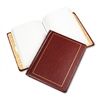 Wilson Jones Looseleaf Minute Book, Red Leather-Like Co