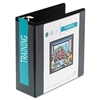 Wilson Jones D-Ring Vinyl View Binder, 4in Capacity, Bl
