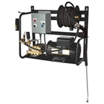 BE Pressure X-1520FW1ARH Wall-Mounted 2HP 1500 PSI Baldor Motor Electric Pressure Washer, X-1520FW1ARH