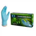 AMMEX Xtreme Nitrile Powder Free Gloves X3 3mil - Medium