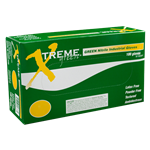 AMMEX Xtreme Industrial Grade Green Nitrile Gloves-XNGPF4-100per/10boxes