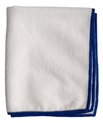 Premium Microfiber Cleaning Cloths, 49 Grams per Cloth, White, 16x16, Pack of 12