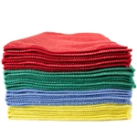 Premium Microfiber Cleaning Cloths, 49 Grams per Cloth, 12x12, Case of 180, Available in Grey, Green, Blue, etc.