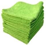 Premium Microfiber Cleaning Cloths, 49 Grams per Cloth, Lime, 16x16, Pack of 12