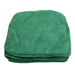 Microfiber Cleaning Cloths, Green, 12x12, Pack of 12 (.35 EA)